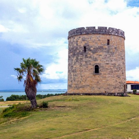 A Cuban Castle Tower by the Ocean