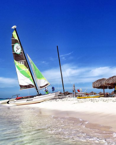 Catamaran on the Beach in Cuba