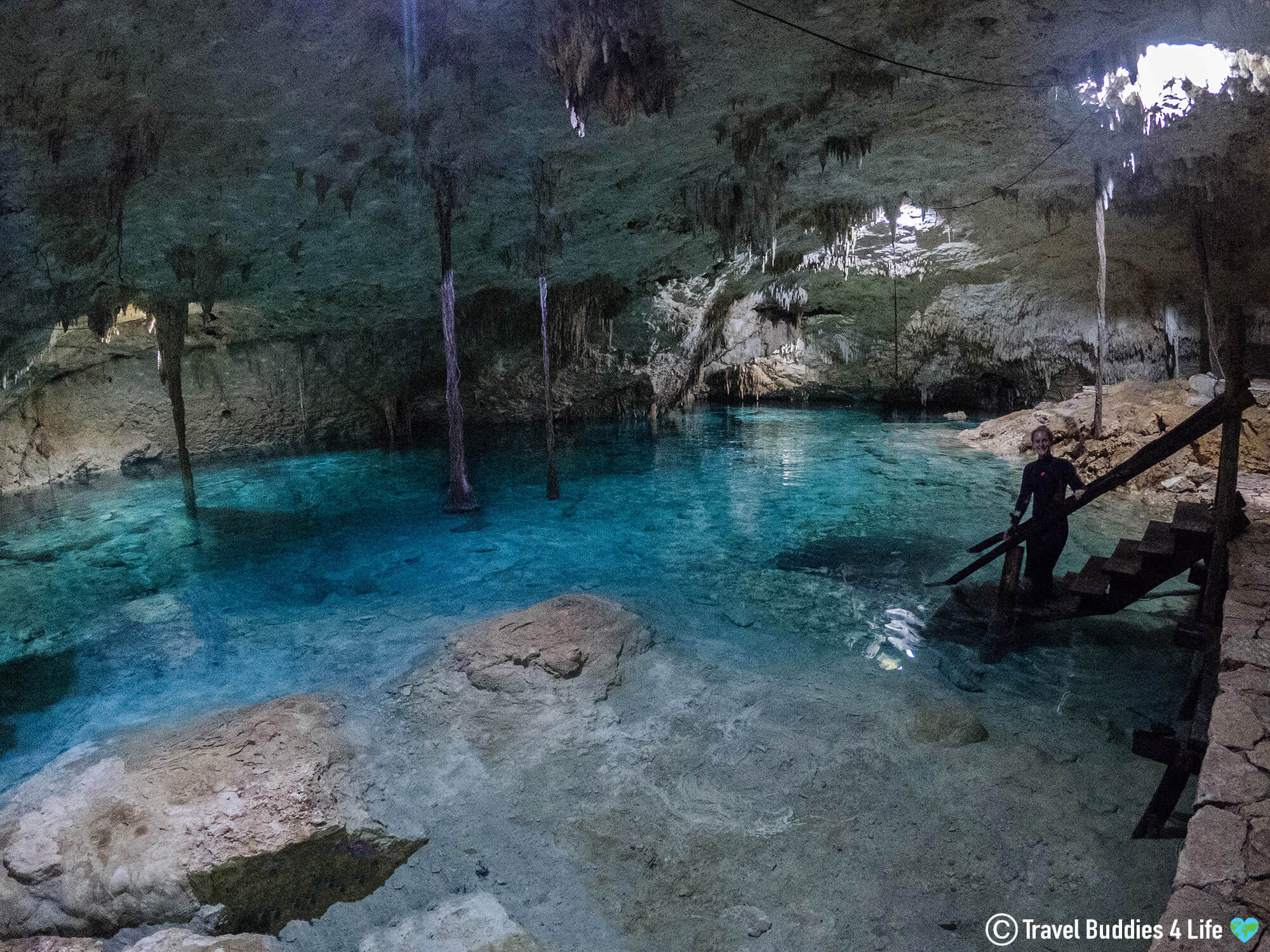Cenote Tak Be Ha Underground Covered Water Pit In Tulum, Mexico