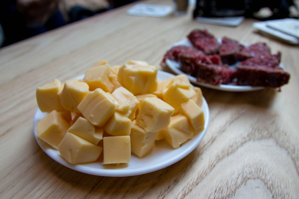 Cheese And Ox Meat At The Windmill Brewery