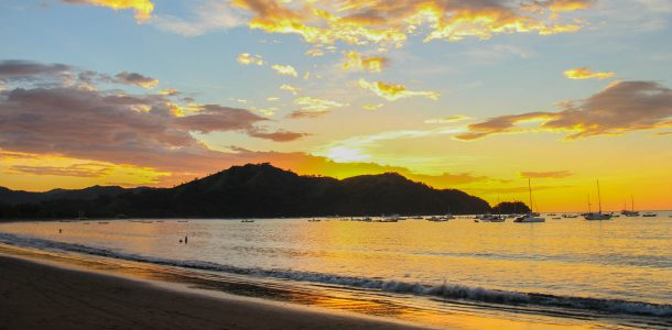 The Harbour of Playa del Coco, Costa Rica at Sunset