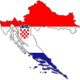 Croatia Country Flag And Shape