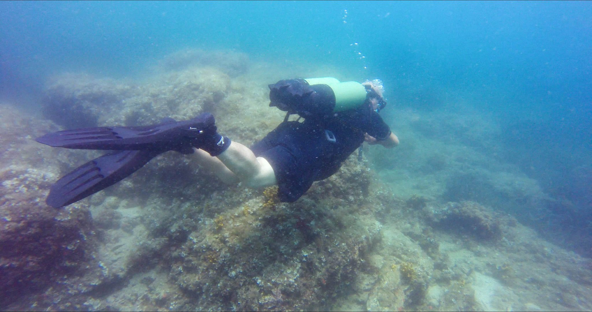 Croatian Divemaster Without Wetsuit Or BCD