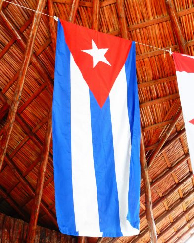 The White, Blue and Red Cuban Flag