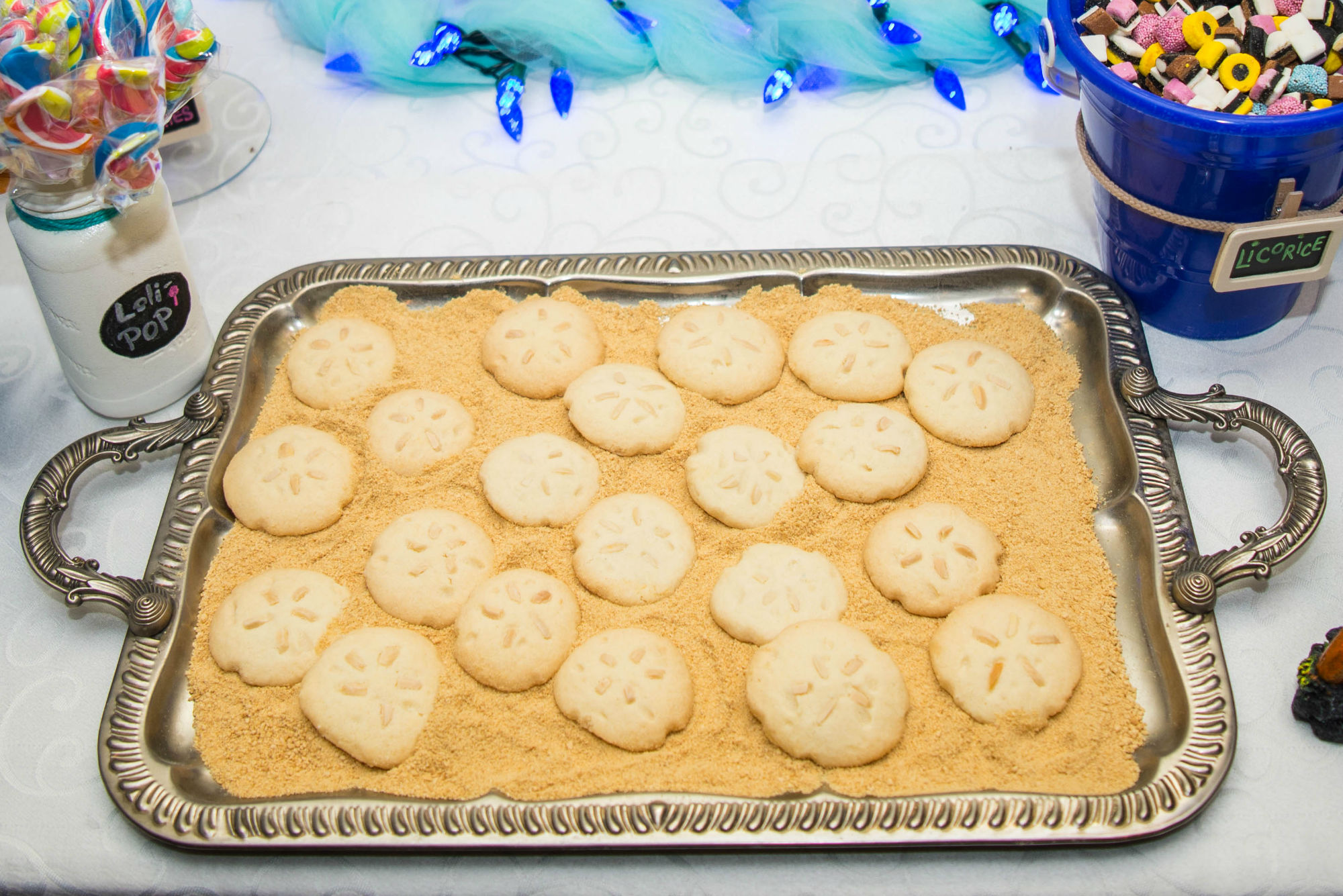 Candy Table Sand Dollar Cookies