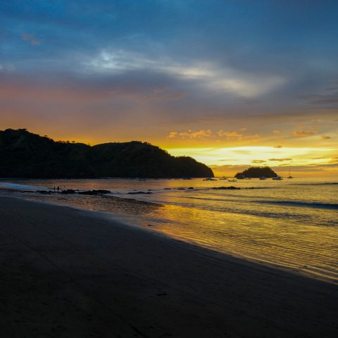 Costa Rican Shoreline Shadows and Sunsets