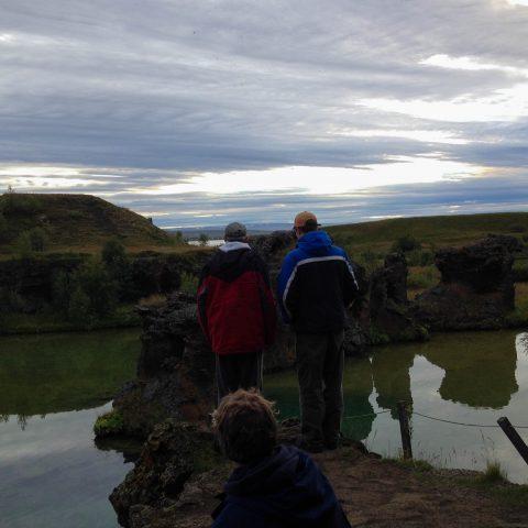 Dad, Joey and Mom at the Lake