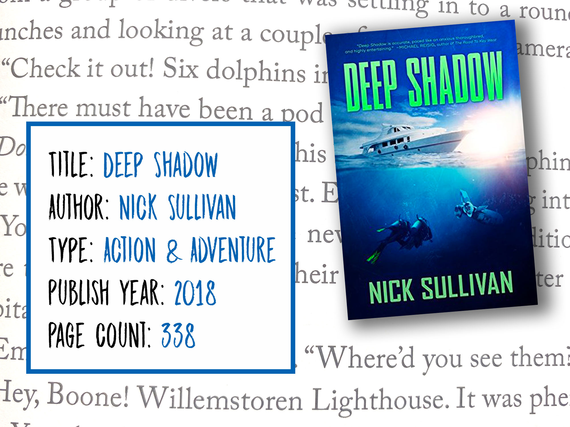 Deep Shadow Scuba Novel Information