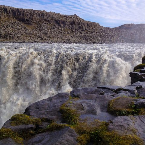 The Water of the Dettifoss Close up