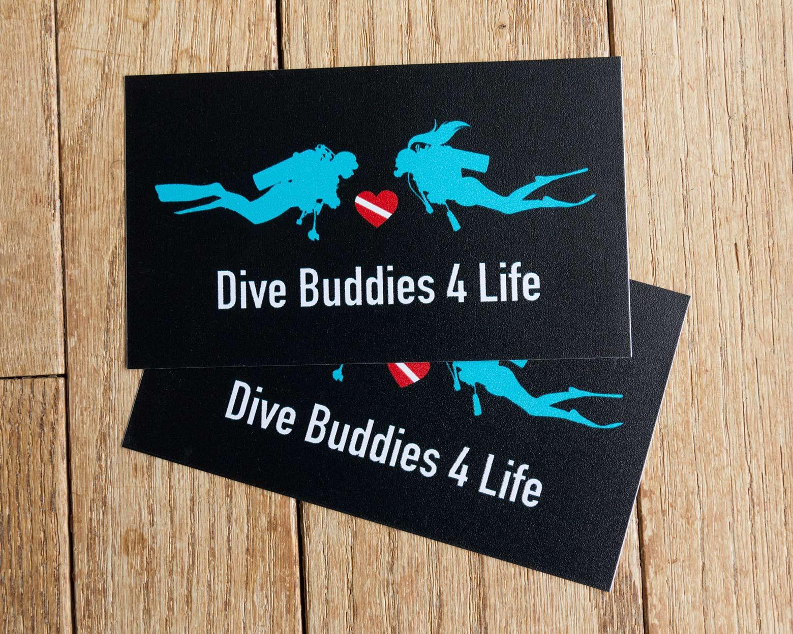 Dive Buddies 4 Life Bumper Sticker 2