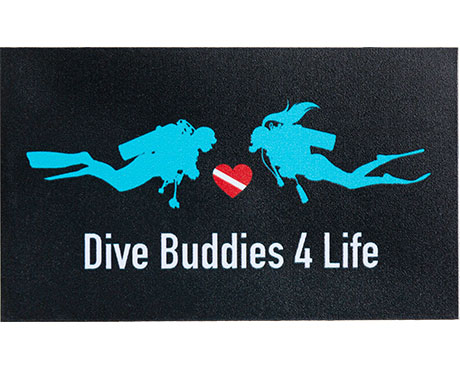 Dive Buddies 4 Life Bumper Sticker Scuba Shop Product