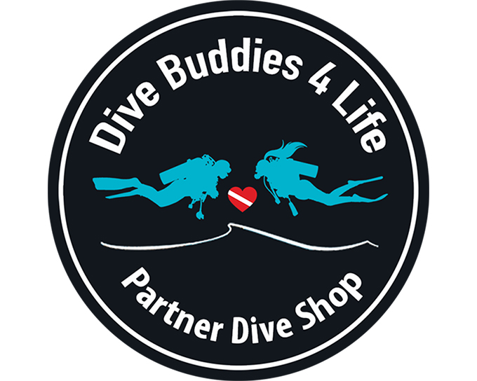 Dive Buddies 4 Life Partner Dive Shop Resource Toolbar Badge