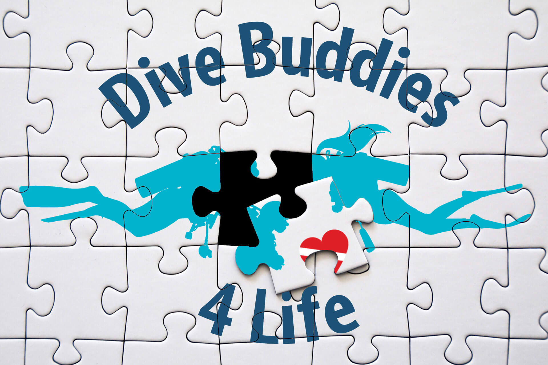 Dive Buddies For Life Puzzle Partnership