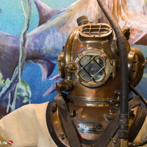 Dive Helmet At The History Of Diving Museum With Watermark