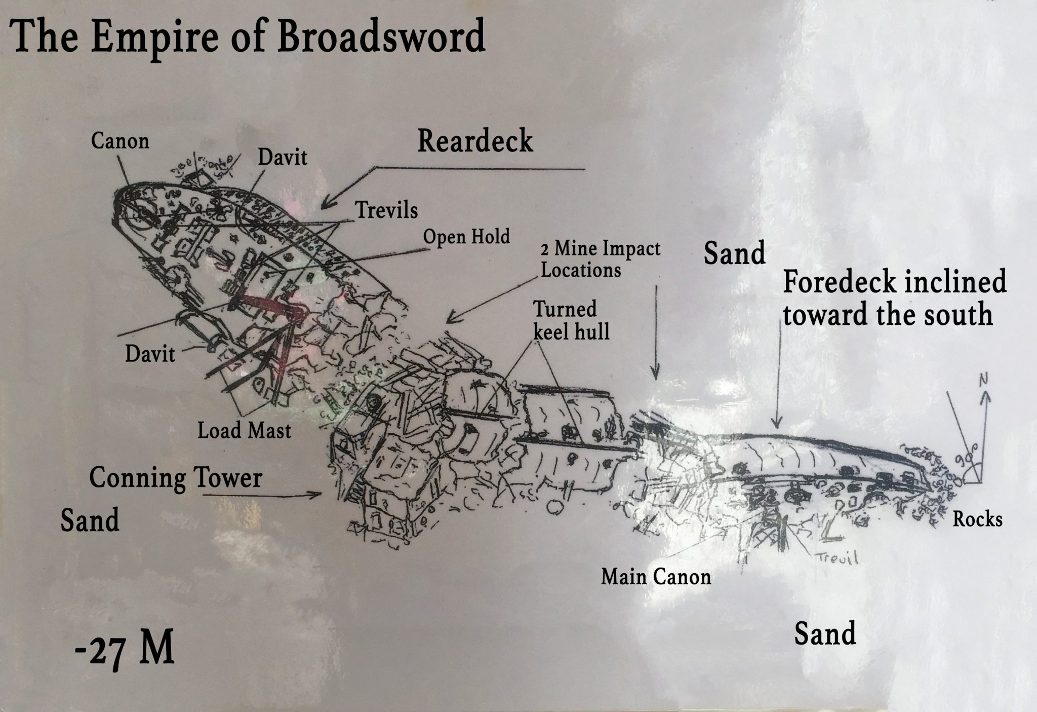 Empire Of Broadsword Shipwreck Diagram