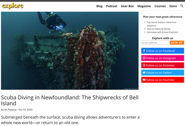 Explore Magazine Bell Island Newfoundland Feature