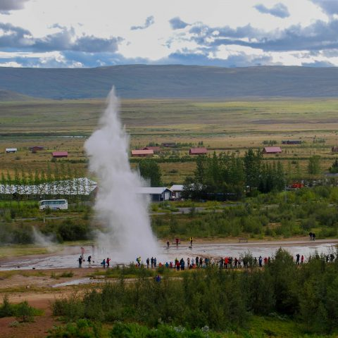 Geysir Explosion in the Distance