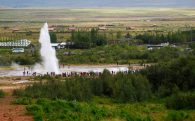 Exploding Geysir in the Distance