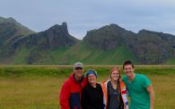 The Family Near the Icelandic Mountains