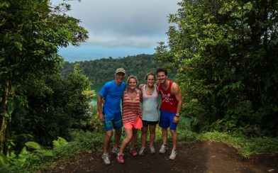 A Family Shot at the Chato Volcano Lookout