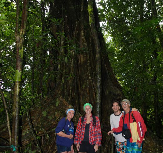 The Family at a Giant Rainforest Tree in Costa Rica