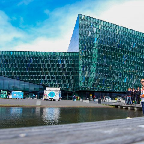 Family at the Harpa Concert Hall