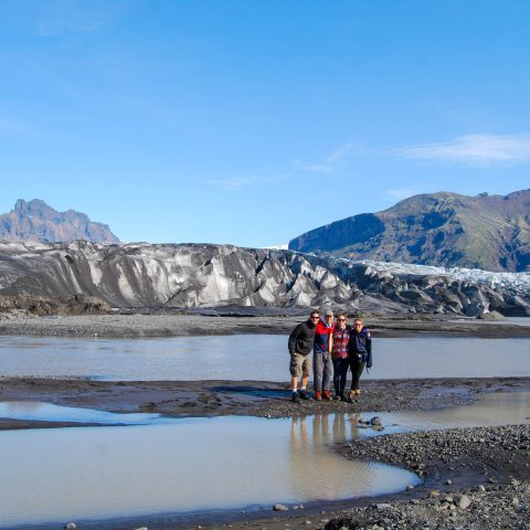 The Family with a Glacier in Skaftafell National Park