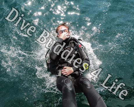 Female Scuba Diver Back Rolling Into The Water Scuba Shop 3