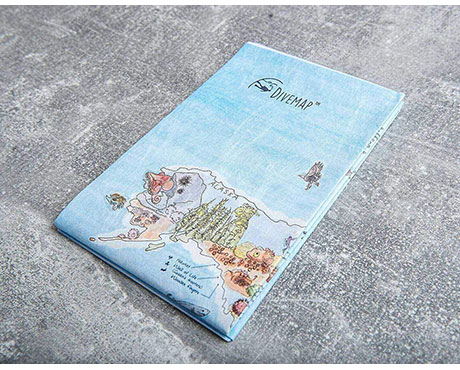 Foldable Dive Map Scuba Shop Products
