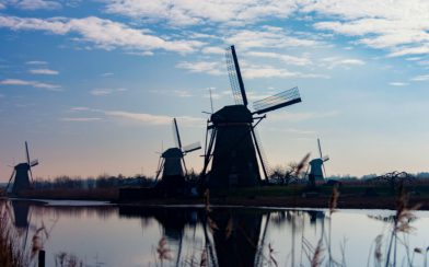 Four Windmills At The Kinderdijk