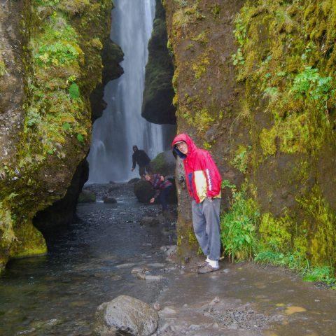 Dad, Ali and Joey Checking Out the Gljúfrabúi