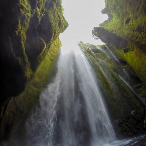 Gljúfrabúi Waterfall from the Bottom