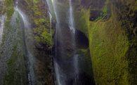 Gljúfrabúi Water Trickling Down the Falls