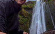 Iceland's Gljúfrabúi Waterfall with Joey
