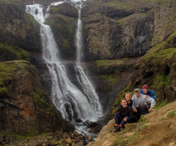 The Glymur Waterfall Family Picture