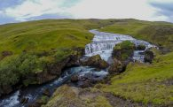 The Upper River of the Glymur Waterfall