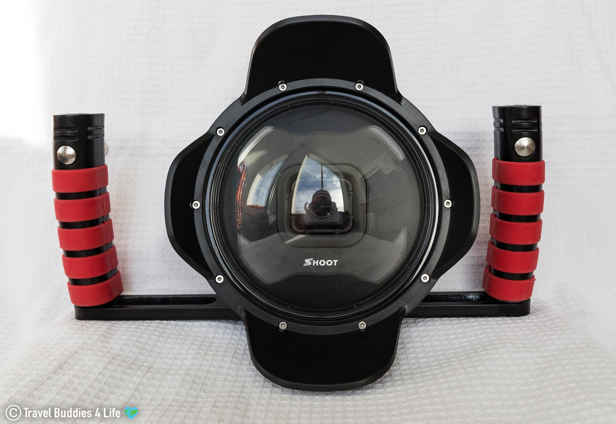 Go Pro With The Split Shot Dome For Above And Below Photographs In The Water