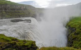 The Narrow Side of the Gullfoss Waterfall