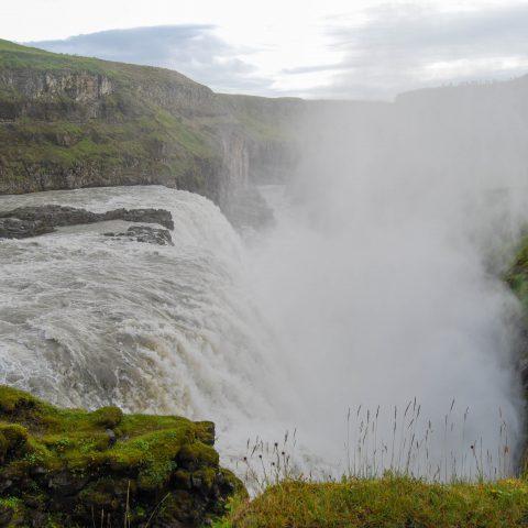 The Narrow Side of the Gullfoss Waterfall