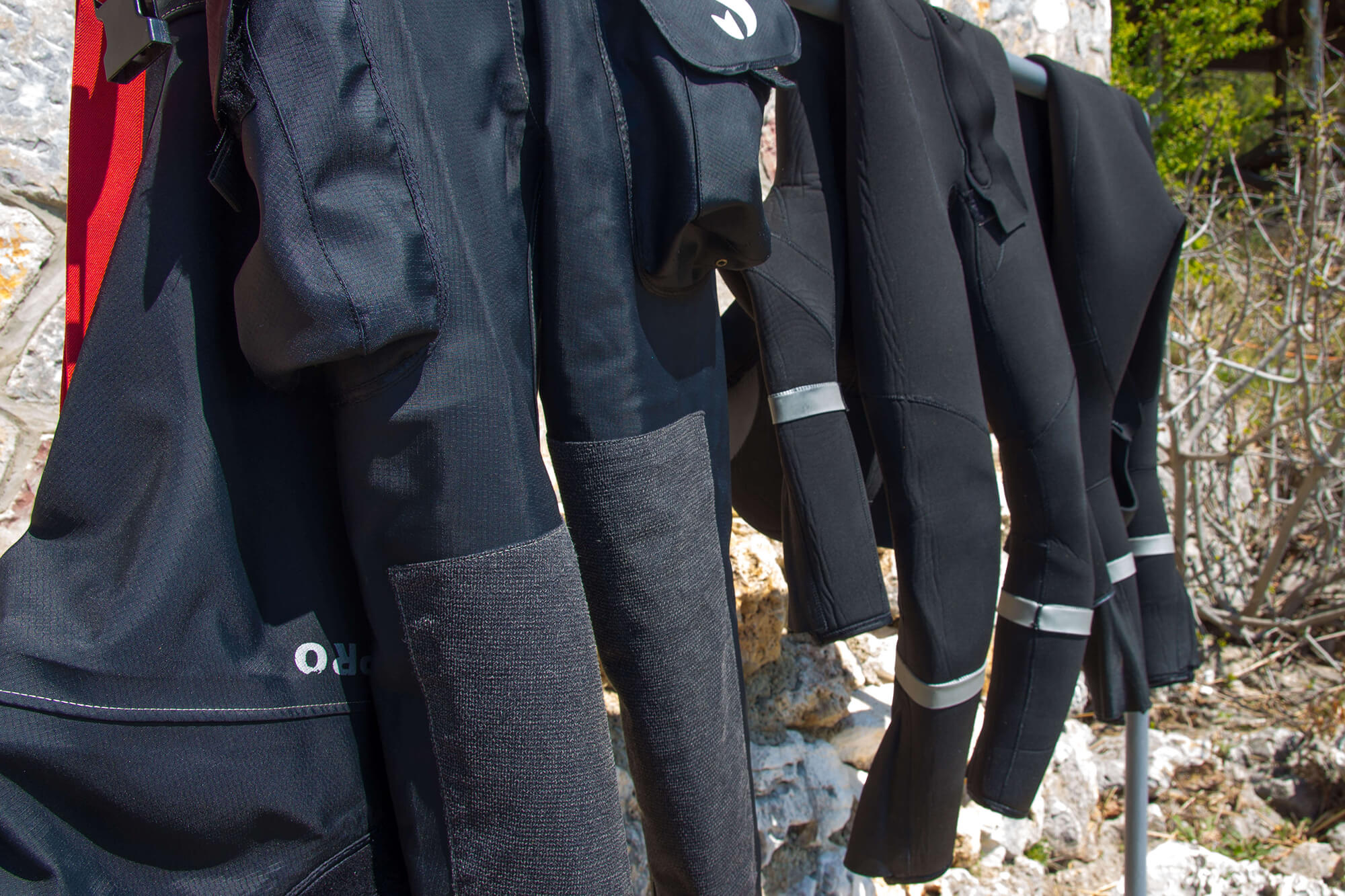 Hanging Out Our Suits To Dry After Diving In Lake Ohrid