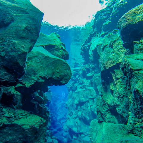 Silfra Fissure with Ladder