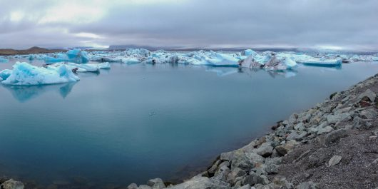 The Glacier Lagoon in Southern Iceland