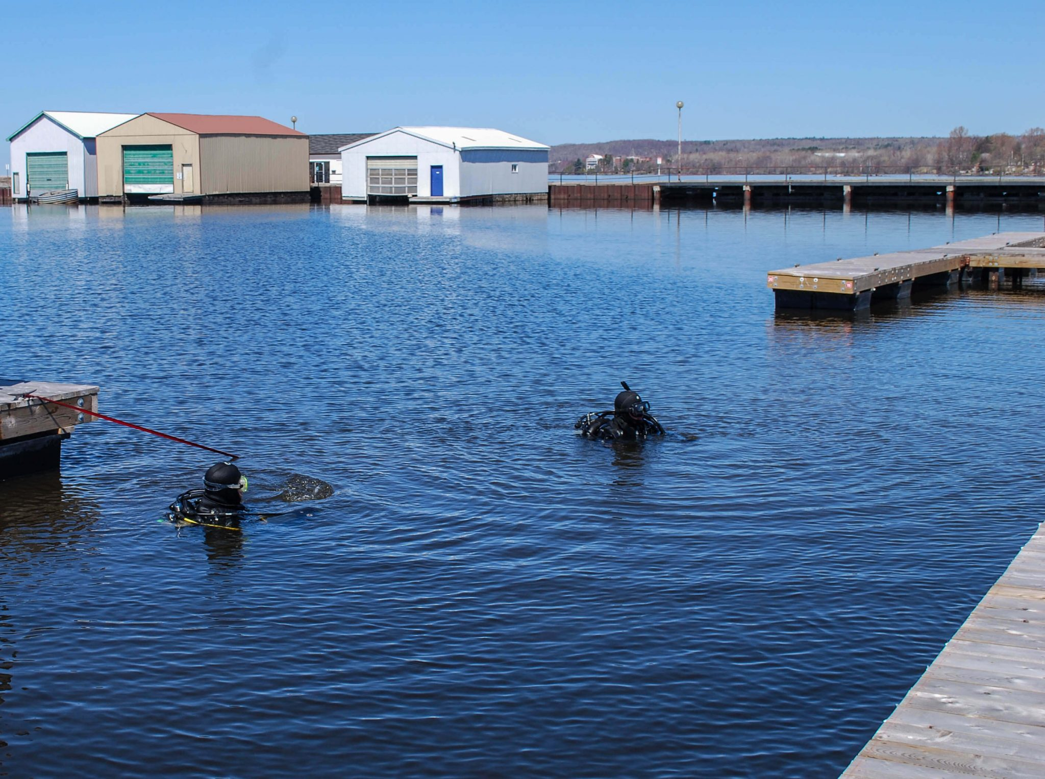 North Bay Scuba Club's 18th Annual Harbour Clean up, Ontario, Canada