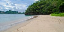 A View of Secret Beach in Costa Rica, Central America