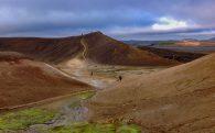 Hiking on the Edge of the Krafla