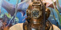 History Of Diving Museum Antique Hard Helmet Hero Florida Key's