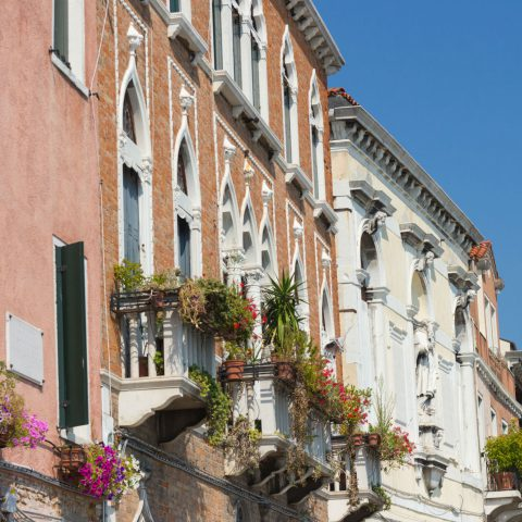 A Row of Beautiful Italian Homes around the City of Naples