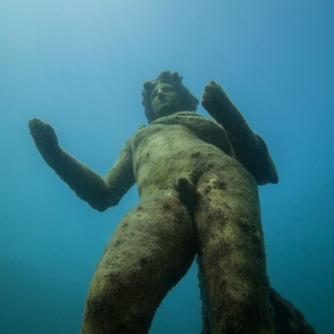 An Impeccable View of Baiae's Roman Underwater Statues