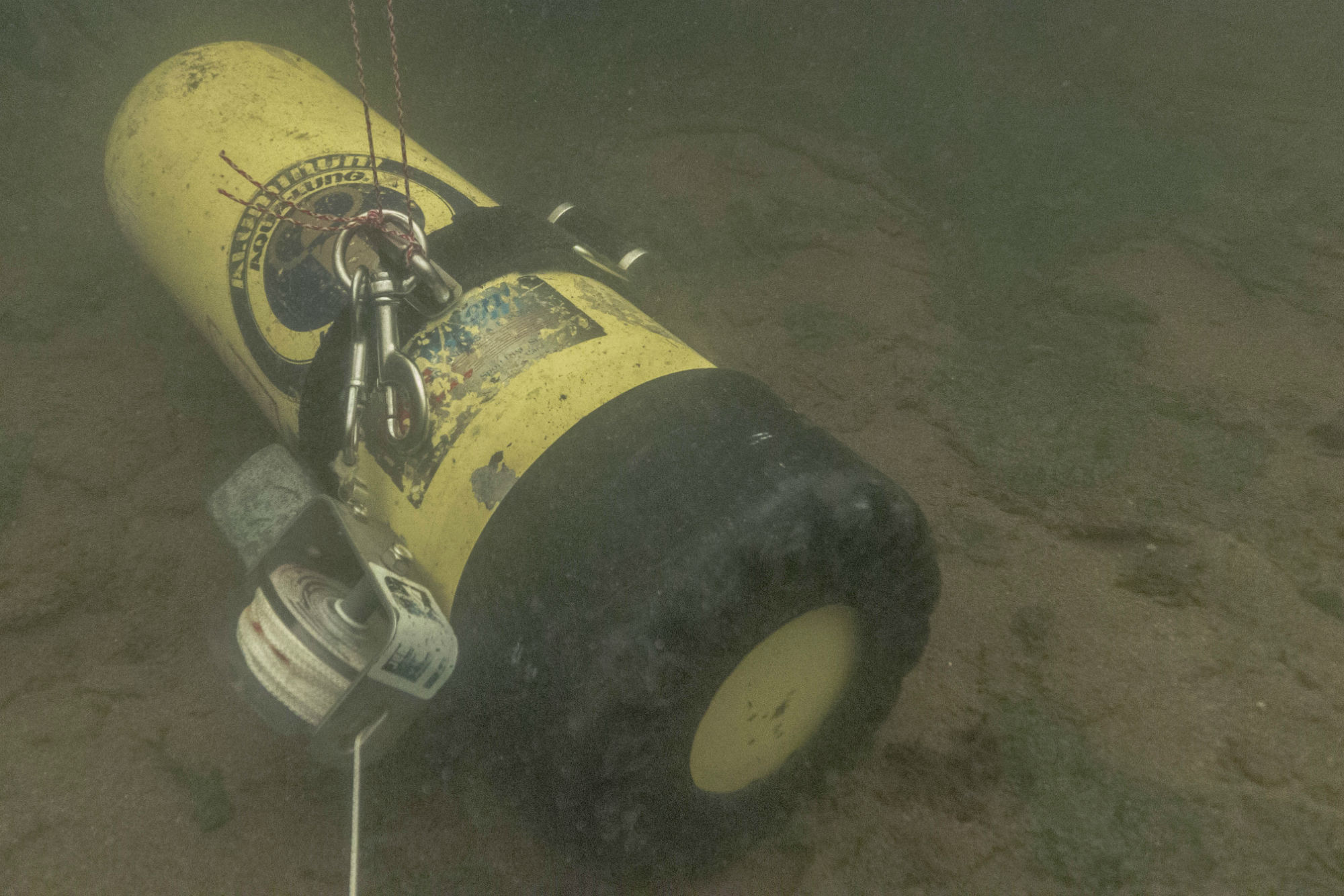 The Scuba Diving Tank of Zombie Gas on the Bottom of the River
