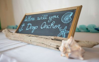 Where will you Drop Anchor Seating Sign